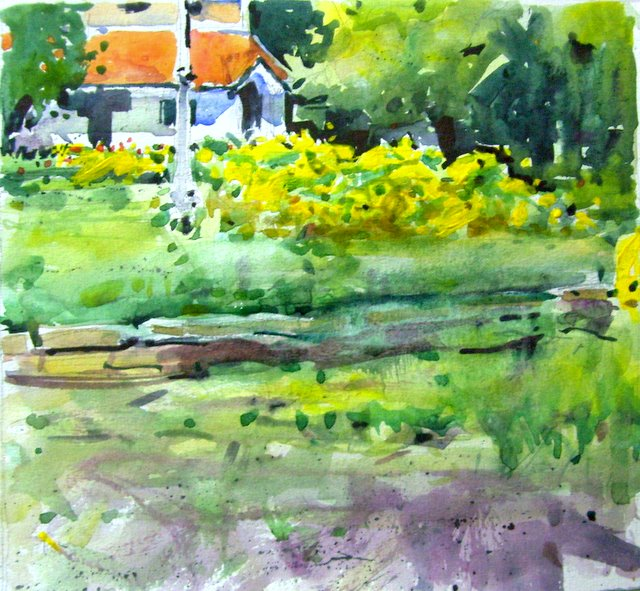 her majesty's garden2 by Aditya Shirke, watercolour on montval paper