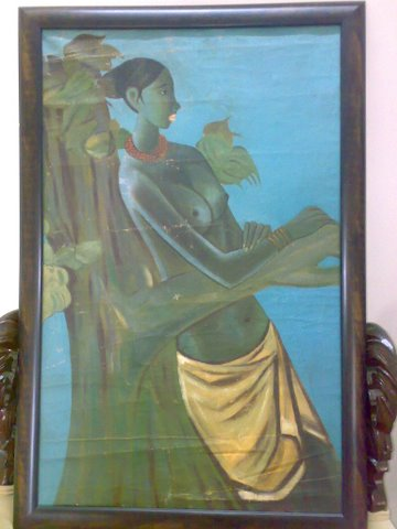 Fisher Women by Akash Jain, Oil on Canvas on canvas