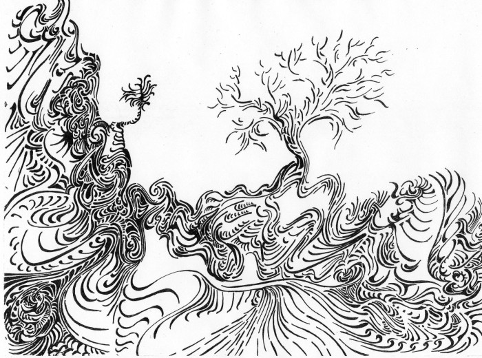 Trees by Bob Marrone, Pen and ink on Paper