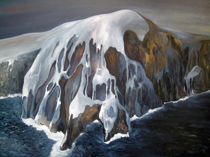 CAPE HORN by Clairemarie Gosselin, huile on canvas