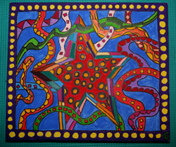 star by Gala Scherbina, Acrylic) on Canvas)