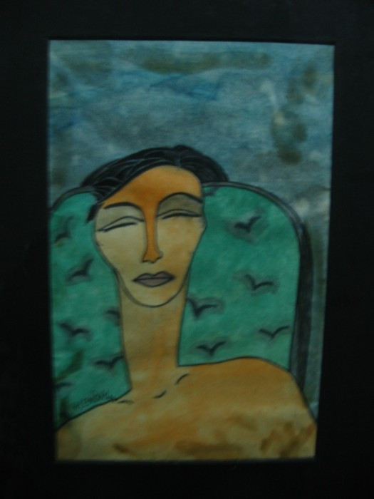 Chair IV by Hemangi Ghosh, Water colour on Paper