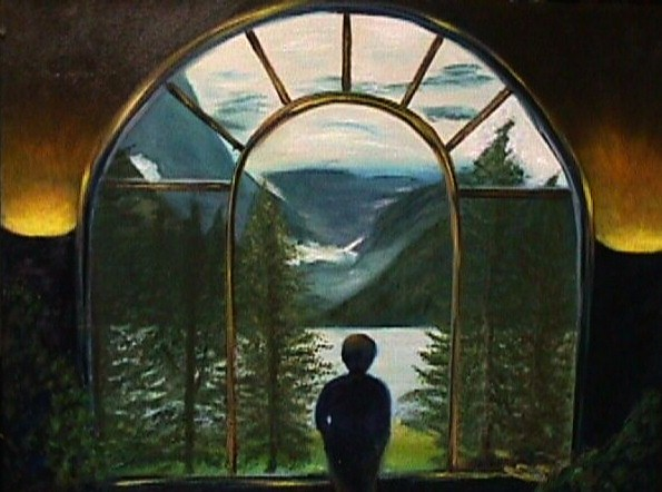 Window to the Lake by Janine Shideler, Oil on Canvas