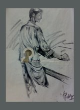 life drawing by Jayesh Paroli, charcol on paper