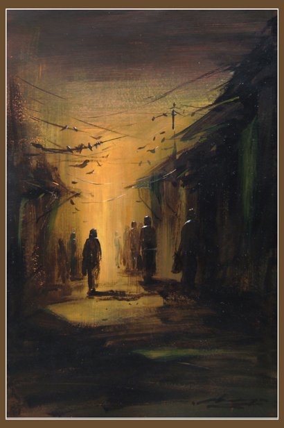 towards light by Kingshuk Bhattacharya, Acrylic on board