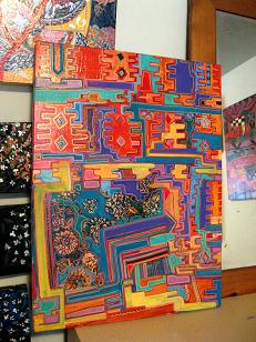 my kilim by Linda Arthurs, mixed on canvas