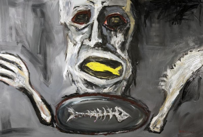 appetite by Maciej Hoffman, oil on canvas