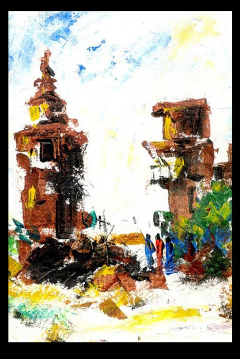 Untitled 1 by Manas Halder, Water Color on