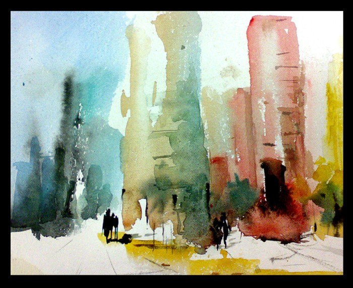 Untitled 2 by Manas Halder, Water Color on