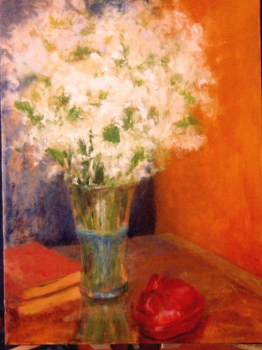 Baby's Breath by Margaret Eggleston, oil on canvas