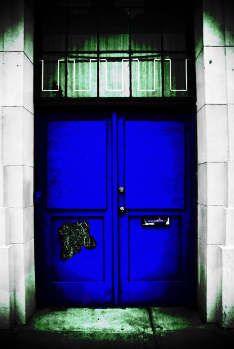 Blue door by Maria Roy,  on