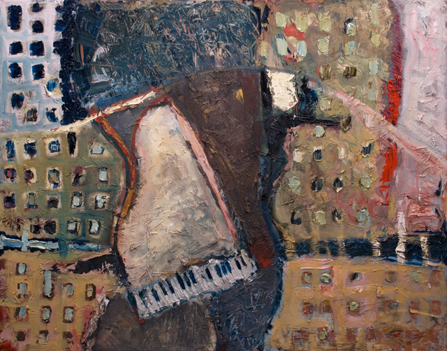 the Old Piano by Mateusz Sieniewicz, Oil on Canvas