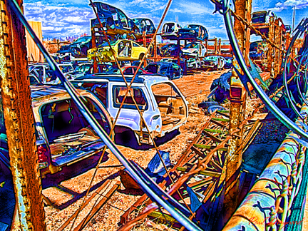 The Car Yard by Paul Maynard, Photo Art on Canvas