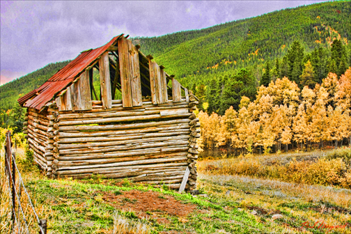 Fall Cabin by Paul Maynard, Photo Art on Canvas