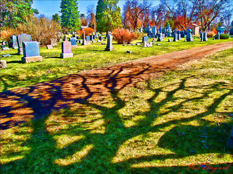 The Cemetary by Paul Maynard, Photo Art on Canvas