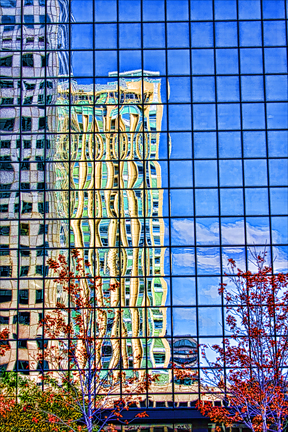 Building Reflections by Paul Maynard, Photo Art on Canvas