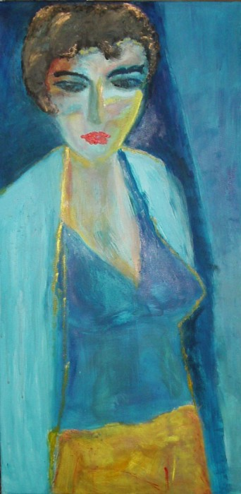 I paint you in blue by Pilar Bamba, acrylic on canvas