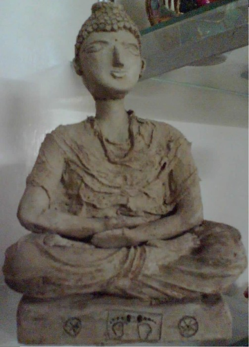 budha by Raman Buttar, clay on clay