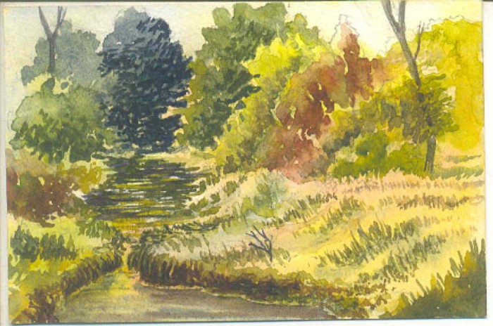 Indroda Park, Gandhinagar by Rizwan Ajmerwala, Watercolour on Paper