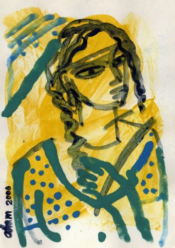 She I by Samsul Alam, Water on Paper