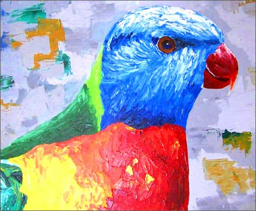 The Lorikeet by Sangeeta Ananth, Acrylic on Canvas