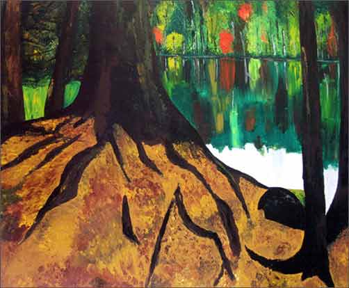 Woods by Sangeeta Ananth, Acrylic on Canvas