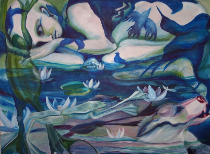 Swamp by Sarah Valeri, oil on canvas