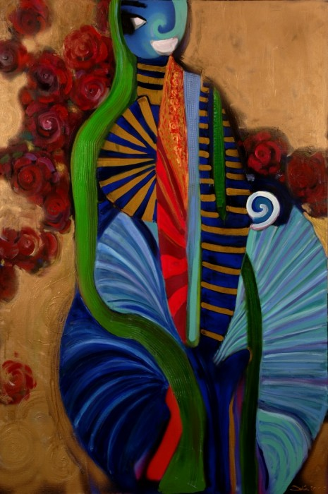 before go to wedding ceremony by Selin Aktan, acrylic on canvas