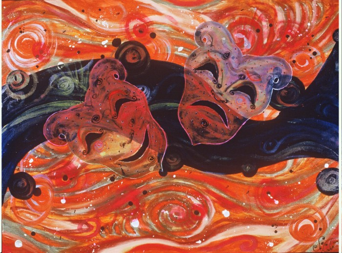 Theatric Swirl by Shellton Tremble, Acrylic on Canvas