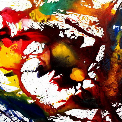 The Reaction of Spurting Colour in Space by Cholasinth C. by Yani Artgalleries, Acrylic on Canvas